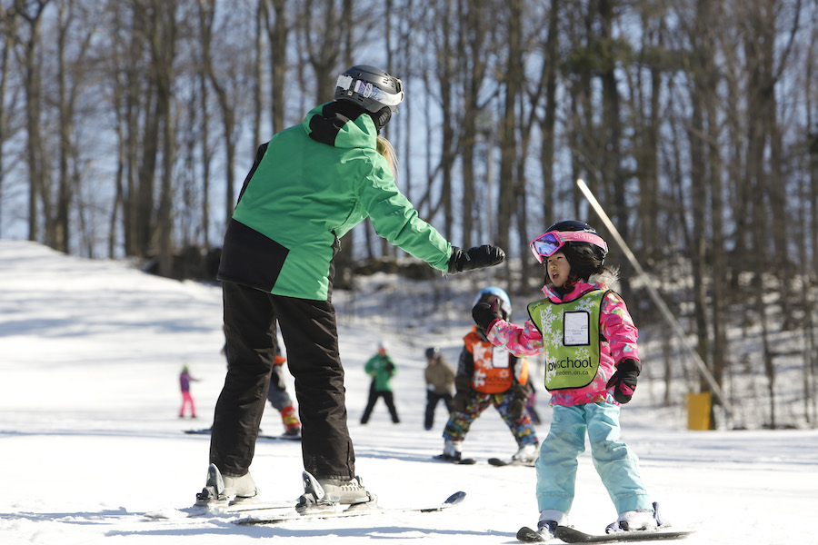 Ski lesson with built in fun, safety and ski improvement